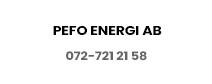 Pefo energi ab